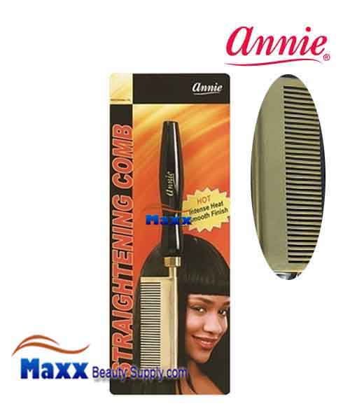 Annie #5502 Straightening Comb - Medium Teeth straight head
